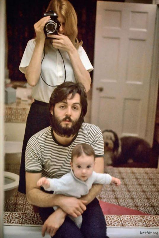 Linda, Paul And Mary McCartney, 1969