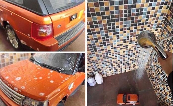 洗车时候拍的