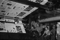 在1942年,一份纽约时报是如何制作出来的?