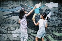 [13739] 重庆观音桥小清新涂鸦街