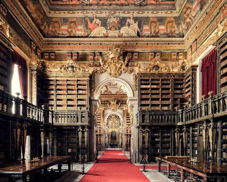 若昂尼娜图书馆,葡萄牙科英布拉,建造于 1728 年