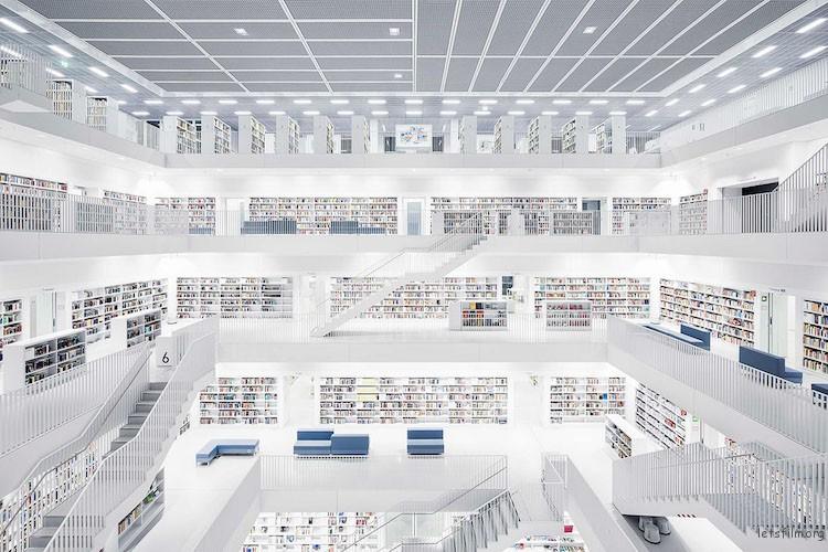 市立图书馆,斯图加特,建造于 2011 年