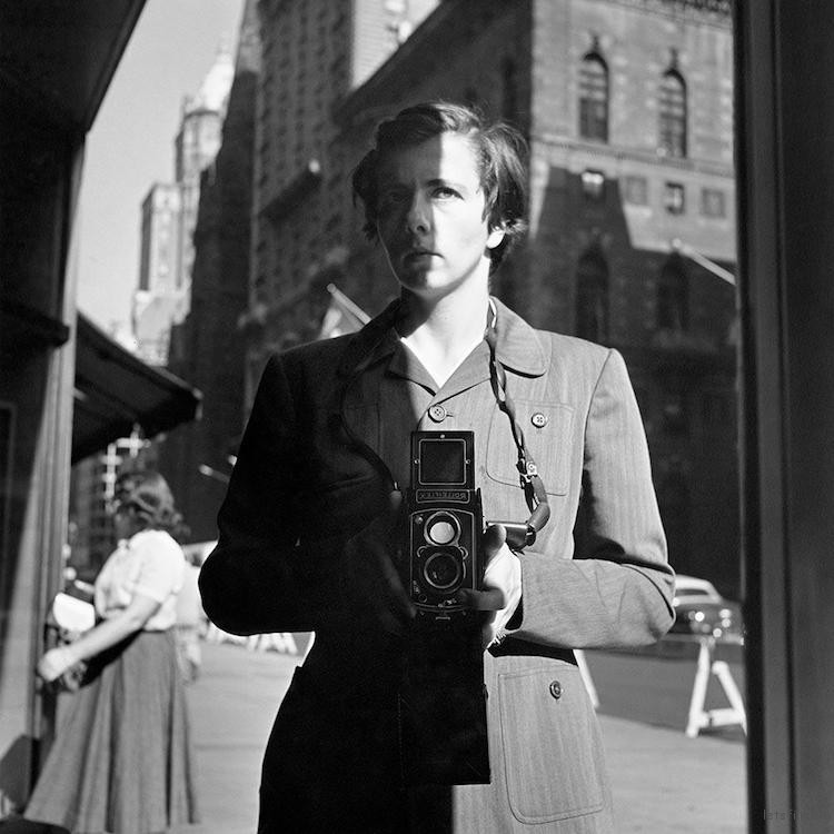 Self-Portrait, New York, NY.  October 18, 1953 (Image via Vivian Maier and the Maloof Collection)