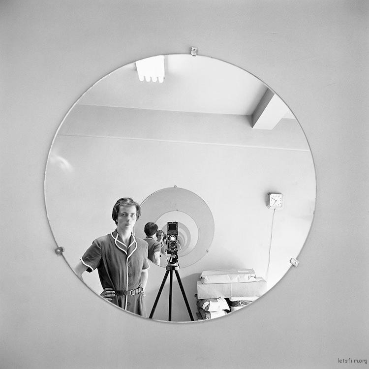 Self-Portrait. May 5th, 1955 (Image via Vivian Maier and the Maloof Collection)