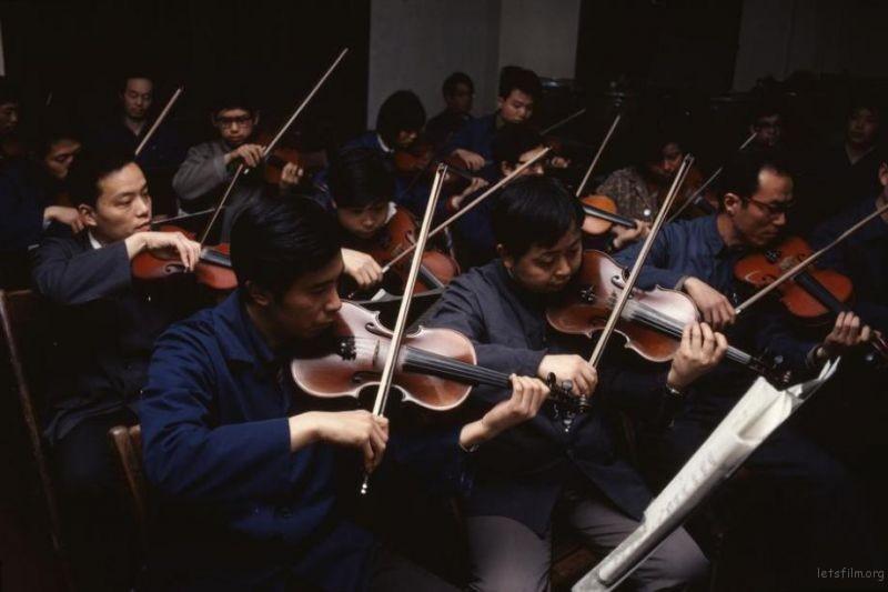 上海乐团正在演奏贝多芬的第九交响曲