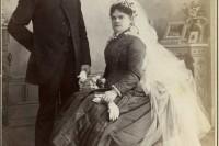 1800 年代的婚纱照