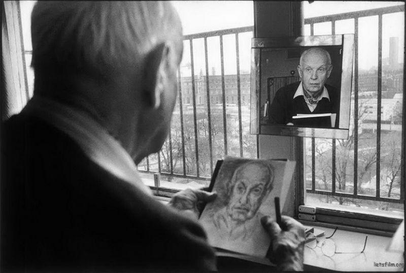 Martine Franck 镜头下的 布列松,1992