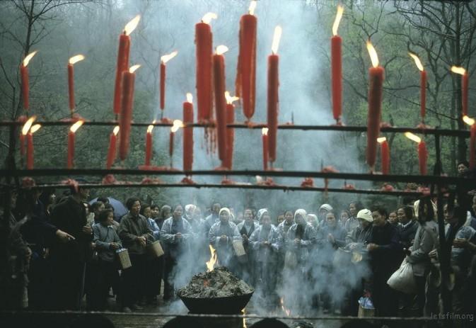 1983年,杭州,正月十五的祭祀活动
