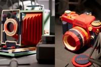 他用纸做了很多老相机模型,好想要一个啊~