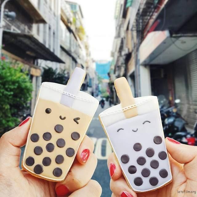 台湾街头的珍珠奶茶