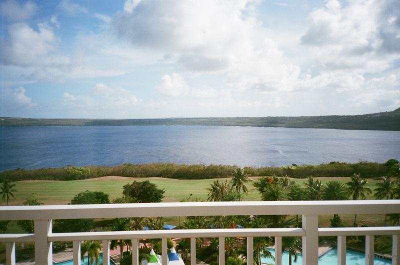 高尔夫酒店阳台上的取景