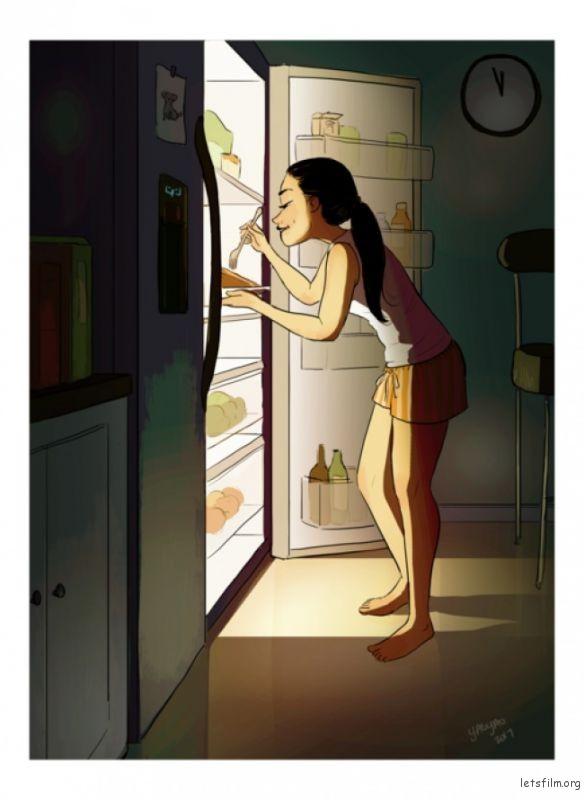 即使会有悲伤,也可以在深夜放纵自己