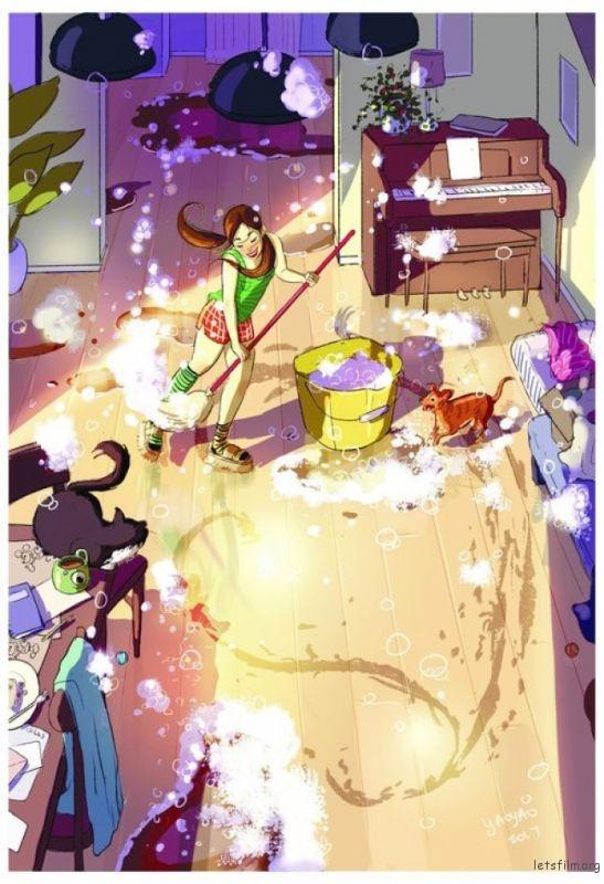 想什么时候打扫房间就什么时候打扫