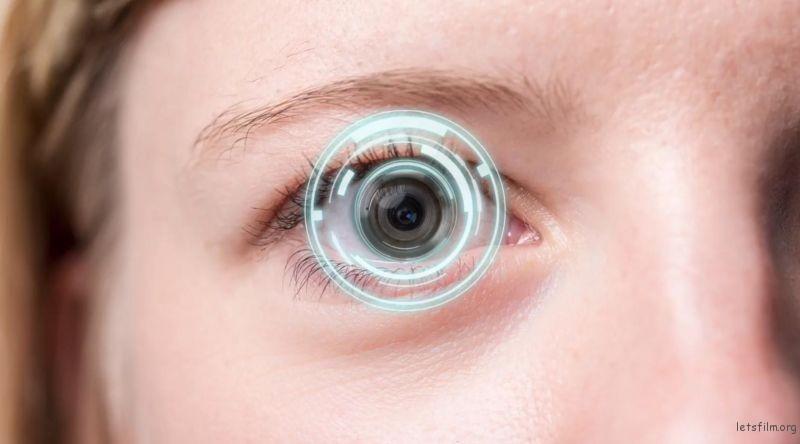隐形眼镜相机概念图