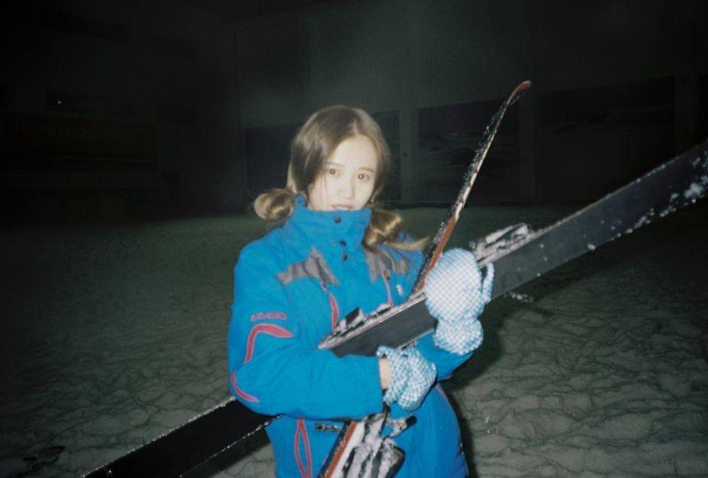 滑雪场 冷的瑟瑟发抖