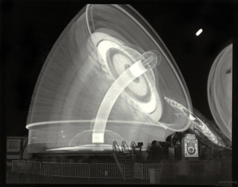 Super Round-Up and Moon, 1996, platinum/palladium print on vellum.
