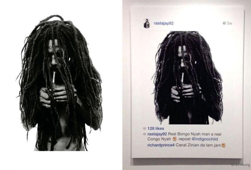 左边的是摄影师的作品,右边的就变成了 Richard Prince 的作品