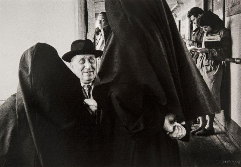 On a vaporetto, Venice, 1958