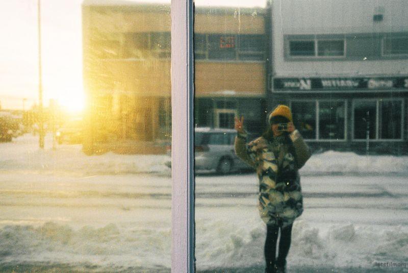 早晨的太阳&橱窗里的自己