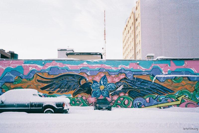 涂鸦墙(酒店背后)