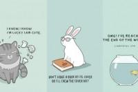你最像猫咪还是兔子?从插画看哪个动物最符合你的性格!