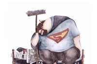 他很爱很爱你但从来不会说,14 张超暖心插画让你回想从小就在你身后支持你的超人爸爸