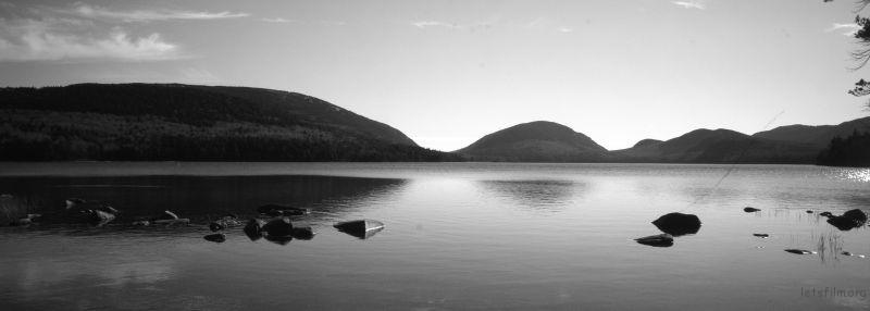 缅因Arcadia国家公园的湖