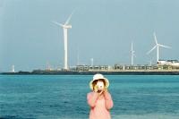 [17606] 风和日丽的济州海边 白色的沙滩和翠绿的大海