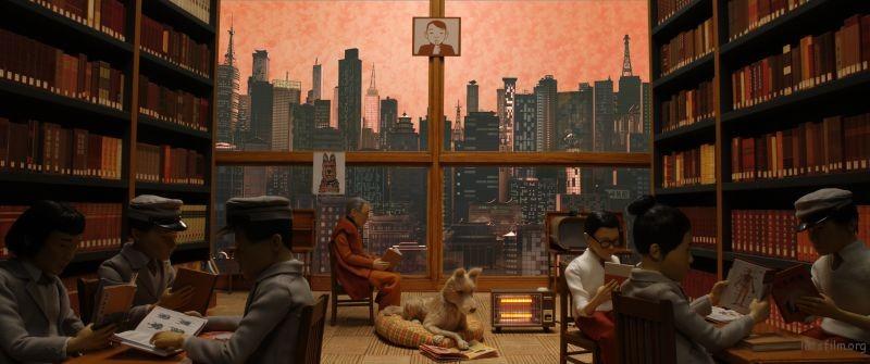 《犬之岛》电影截图,韦斯安德森导演作品